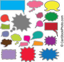20 comic style chat bubbles