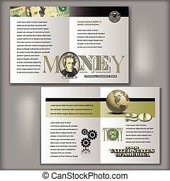 20 Dollar Bill Brochure Template