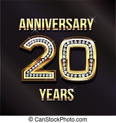 20, feliz cumpleaños, aniversario