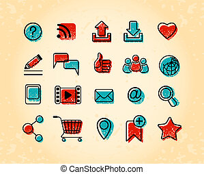 20 Internet Communication Icons