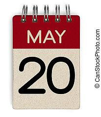 20, mai, kalender