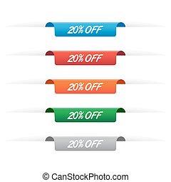 20% off paper tag labels