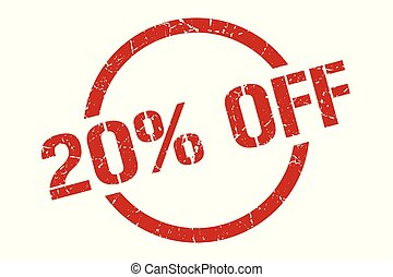 20% off stamp