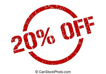 20% off stamp