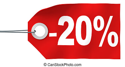 20% off tag
