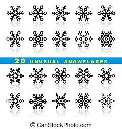 20, płatki śniegu