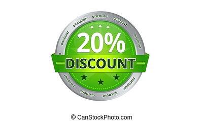 20 percent Discount - Green Animated 20 percent discount...