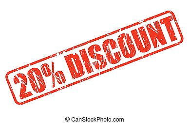 20 percent discount red stamp text on white
