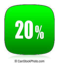20 percent green icon