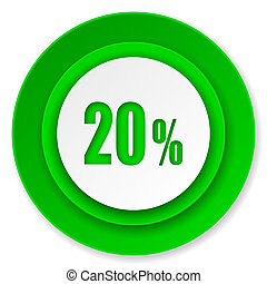 20 percent icon, sale sign