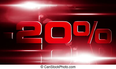 20 percent OFF 03 - 20 percent OFF discount animation