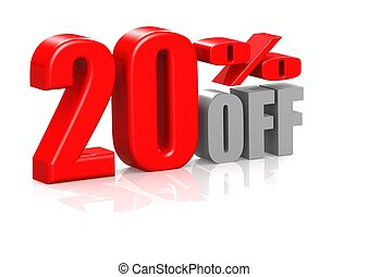 20 percent off - Rendered artwork with white background
