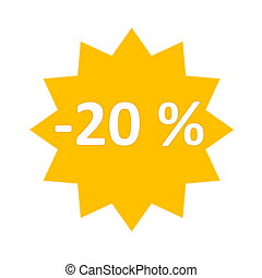 20 percent sale icon