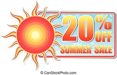 20 percentages off summer sale, vec