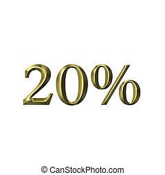 20, percento
