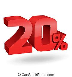 20, percento, illustrazione