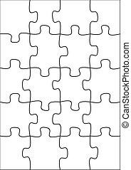 20 piece blank puzzle