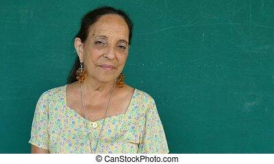 20-Portrait Hispanic People - Sad old people portrait with...