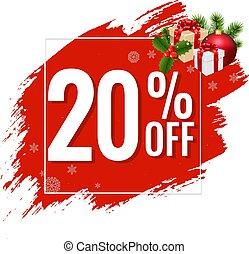 20% Sale Red Blobs Banner