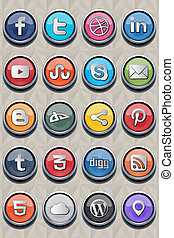 20 social classic icon v2.0 - Package include 20 (twenty) of...