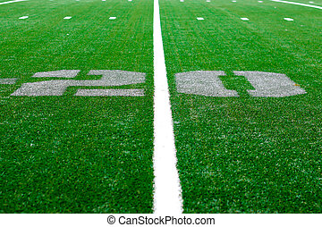 20 yard -  american football arena