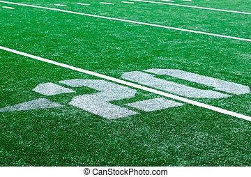 20 yard - american football arena - 20 yard turf american...