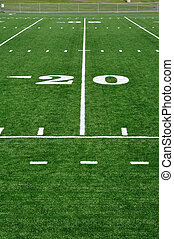 20 Yard Line on American Football Field and Sideline