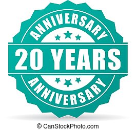 20 years anniversary celebration icon