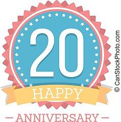 20 Years Anniversary Emblem