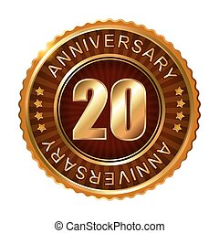 20 years anniversary golden brown label.