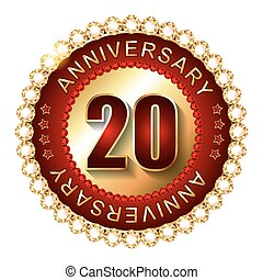 20 Years anniversary golden label.