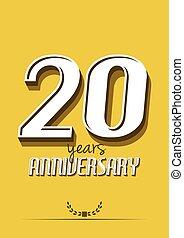 20 years anniversary poster