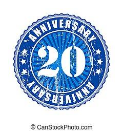 20 Years anniversary stamp.