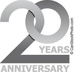 20 years anniversary symbol