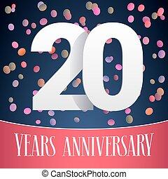 20 years anniversary vector icon, logo