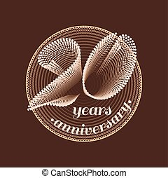 20 years anniversary vector icon