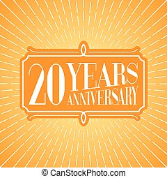 20 years anniversary vector illustration, icon, logo