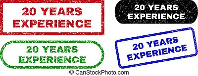 20 YEARS EXPERIENCE Rectangle Seals Using Corroded Texture