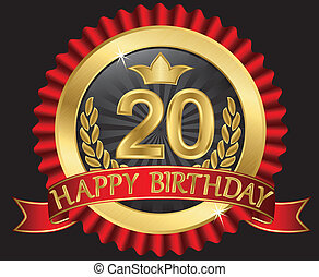 20 years happy birthday golden labe