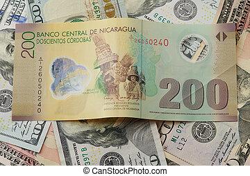 200 cordobas banknote