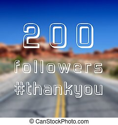 200 followers note