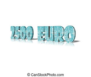 2000 euro 3d word