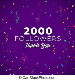 2000 followers network of social media