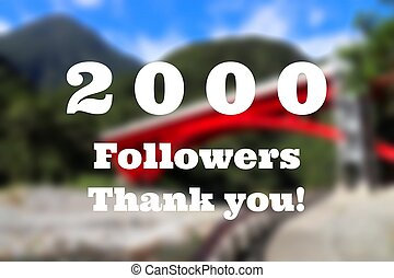 2000 followers sign