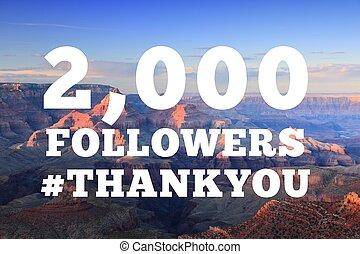 2000 followers sign