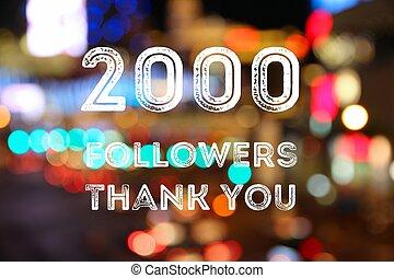 2000 followers