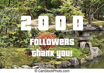 2000 followers thank you