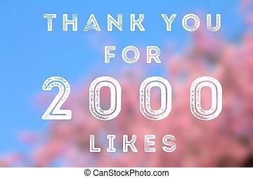 2000 likes