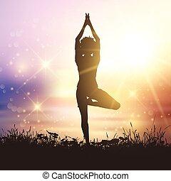 2001, yoga, hembra
