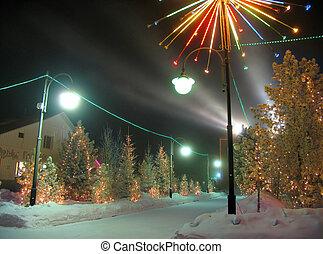 2006., オフィス, nadym, 15, 1 月, 年, -, ロシア, 木。, decorations., 服を着せられる, 新しい, 2006:, クリスマス, 建物。